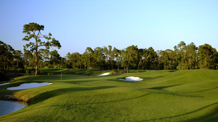 wide view of lush golf course