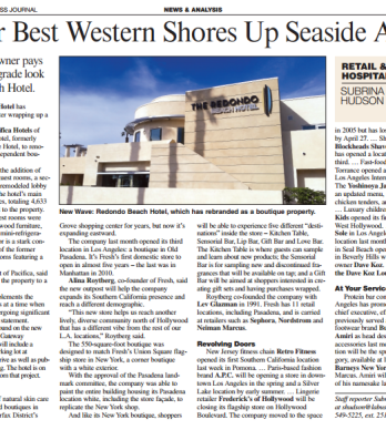 FORMER BEST WESTERN SHORES UP SEASIDE APPEAL
