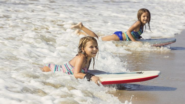 Girls Body Boarding