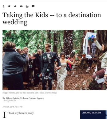 TAKING THE KIDS - TO A DESTINATION WEDDING