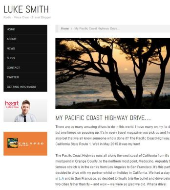 MY PACIFIC COAST HIGHWAY DRIVE…
