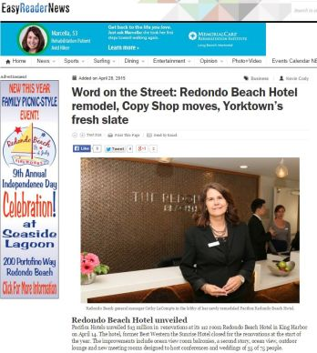 WORD ON THE STREET: REDONDO BEACH HOTEL REMODEL