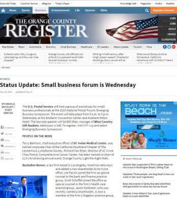 OC REGISTER: BUSINESS NEWS
