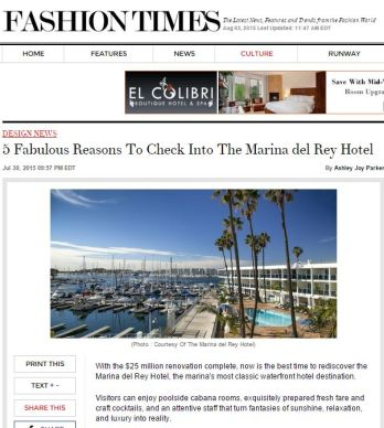 5 FABULOUS REASONS TO CHECK INTO THE MARINA DEL REY HOTEL
