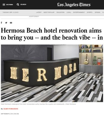 HERMOSA BEACH HOTEL RENOVATION AIMS TO BRING YOU - AND THE BEACH VIBE - IN