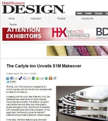 THE CARLYLE INN UNVEILS $1M MAKEOVER