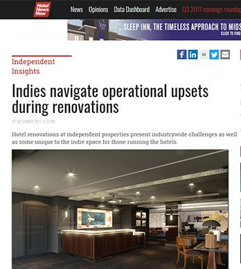 INDIES NAVIGATE OPERATIONAL UPSETS DURING RENOVATIONS