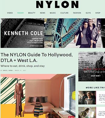 THE NYLON GUIDE TO HOLLYWOOD, DTLA + WEST L.A.
