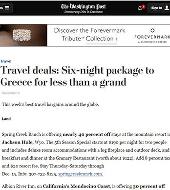 TRAVEL DEALS: SIX-NIGHT PACKAGE TO GREECE FOR LESS THAN A GRAND