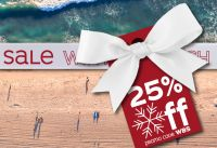 25% Off Annual Winter Beach Sale