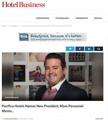 PACIFICA HOTELS NAMES NEW PRESIDENT; MORE PERSONNEL MOVES…