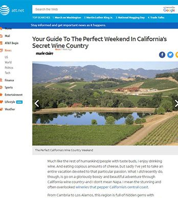 YOUR GUIDE TO THE PERFECT WEEKEND IN CALIFORNIA'S SECRET WINE COUNTRY