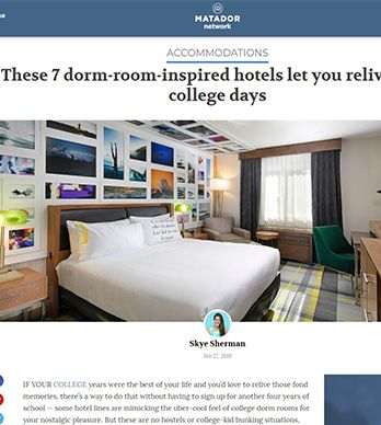 THESE 7 DORM-ROOM-INSPIRED HOTELS LET YOU RELIVE YOUR COLLEGE DAYS