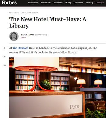 THE NEW HOTEL MUST-HAVE: A LIBRARY