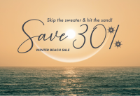 30% Winter Beach Sale